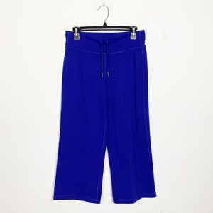 Lululemon Still Crop Pants Purple Blue Medium